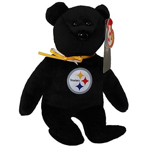 (NFL Pittsburgh Steelers TY Beanie Baby Teddy Bear Plush 8.5