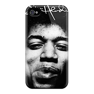 Shock Absorption Hard Phone Case For Iphone 6plus (bXw7859RZUH) Allow Personal Design Lifelike Jimi Hendrix Image