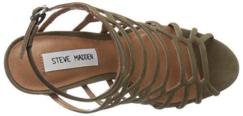 Sandalia Steve Madden Skales en piel laminada oro rosa Olive NUBUCK