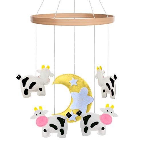 Baby Crib Mobile Toys Perfect for Boys + Girls by i love bub (Cow) by i love bub