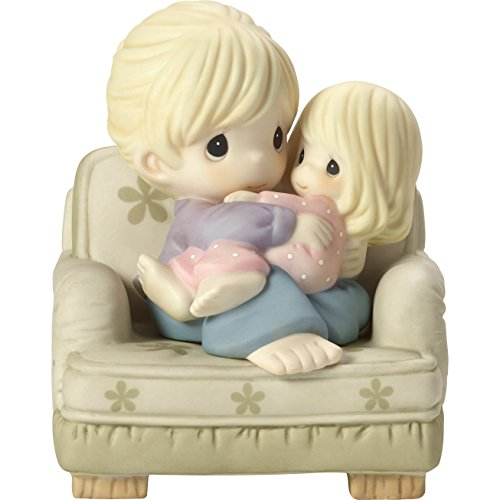 Precious Moments Nestled in Your Love Mother & Daughter In Chair Bisque Porcelain Home Decor Collectible Figurine 173007