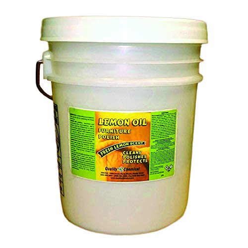 Lemon Oil Furniture Polish (finest blend of lemon oils, waxes & moisturizers & UV protectants)-5 gallon pail