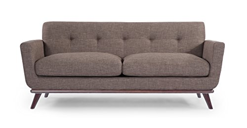 Kardiel Jackie Mid-Century Modern Classic Loveseat, French Press Vintage Tailored Twill