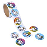 """lovely love wall decals UNICORN EMOTICON STICKER ROLLS - 1.5"""" DECAL STICKERS – reward stickers – unicorn party supplies – mailing seal sticker"""