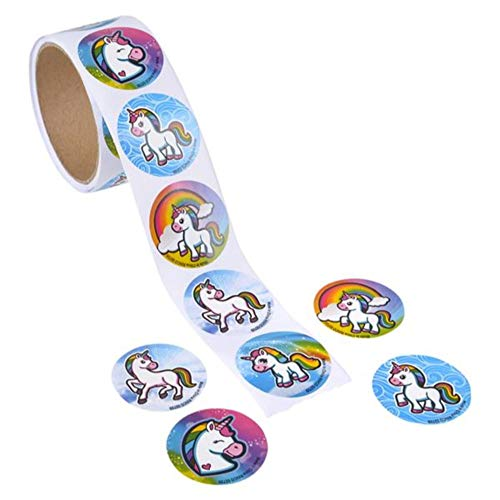 "UNICORN EMOTICON STICKER ROLLS - 1.5"" DECAL STICKERS – reward stickers – unicorn party supplies – mailing seal sticker"
