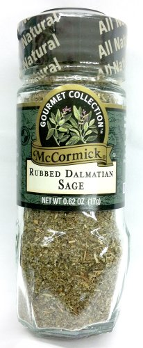 McCormick Gourmet Collection RUBBED DALMATIAN SAGE .62oz (2 Pack)