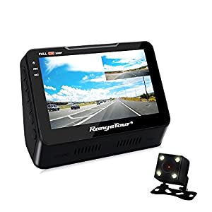 Dash Cam, Dual Lens Car Dash Camera Recorder 1080P FHD 170° Wide Angle 4.3 Inch Front and Rear with Night vision, G-SENSOR, Loop Recording ,Parking Monitor and LCD Screen