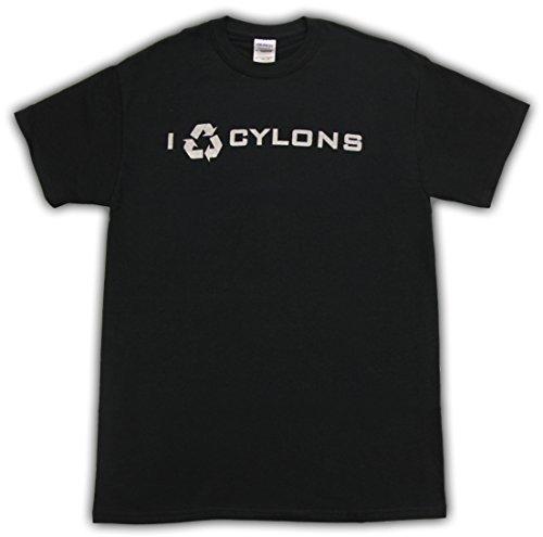 Battlestar Galactica I Recycle Cyclons Black T-shirt Tee (XXL)