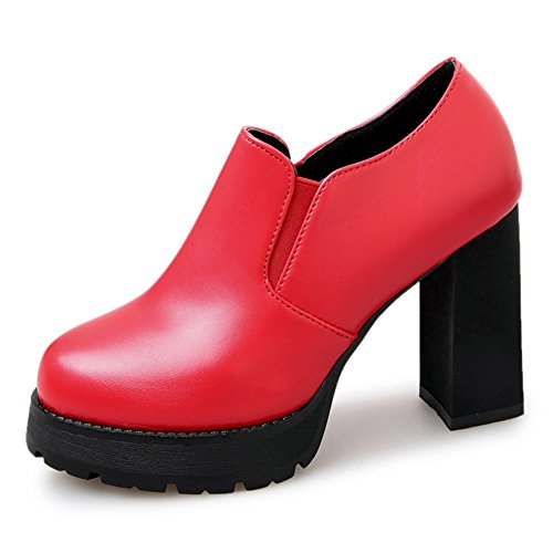 Frauen High Heels,,Koreanische Version Hundert Round Head Shoes,Raue Fersen A