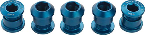 Chainring Nut (Wolf Tooth Components Chainring Bolts/Nuts for 1x Blue, 5-Piece)