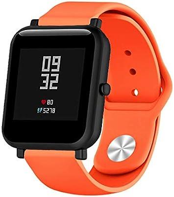 SongNi® para Xiaomi Huami AMAZFIT Bip Youth Correas de Silicona ...