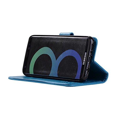 relief Samsung Rosegold Galaxy en cuir S8 antidérapable étui cuir Color en Blue motif Housse pour en PU Plus détachable OT7zw