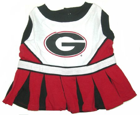 Georgia Bulldogs Dog Cheer Leading Dress & Leash Set Size XS