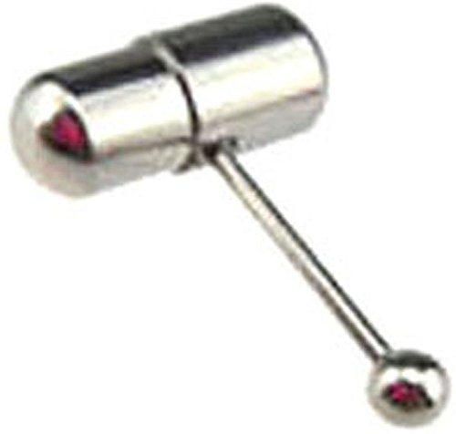 Pill Barbell (21secret Body Jewelry Piercing Sexy 316L Surgical Steel 14g Cool Vibranting Pill Unique Tongue Rings for Sex)
