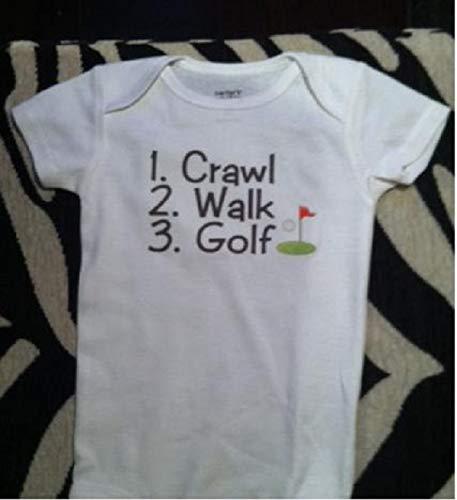 - crawl walk golf golfing infant one piece