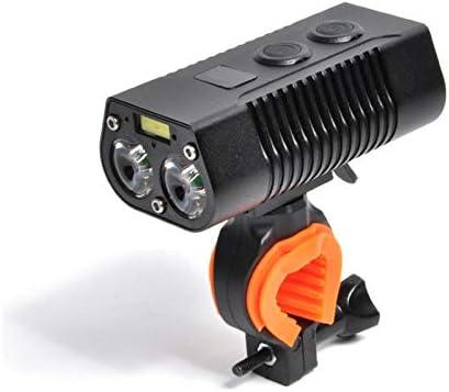 アップグレード済み自転車ヘッドライト、USB 充電式 防水 ハイライト LED 自転車 光 と 4000 mAh 4 モード/サイクル 懐中電灯 ため サイクリング、 山 自転車