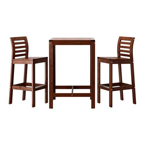 Ikea Applaro Bar Table and 2 Bar Stools Brown by IKEA