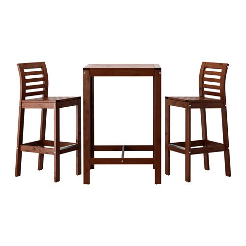 Ikea Applaro Bar Table and 2 Bar Stools Brown (Ikea Bar Chair)
