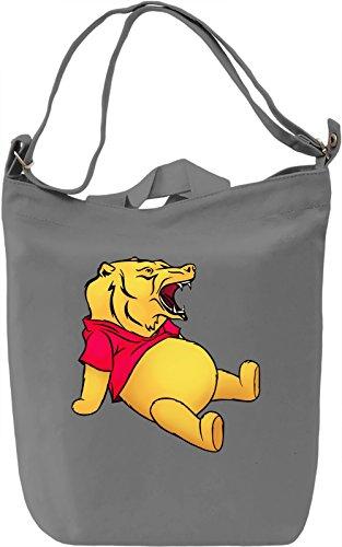 Pooh bear Borsa Giornaliera Canvas Canvas Day Bag| 100% Premium Cotton Canvas| DTG Printing|