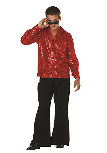 70s Disco Inferno - 70s Sequin Red -
