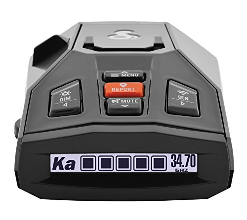Cobra Irad Radar/Laser Detector - App Connectivity, Real time Alerts, Extreme Long Range Protection, Iradar App, Fewer False Alerts, Voice Alerts, iPhone/Android (Best Radar Detector App)