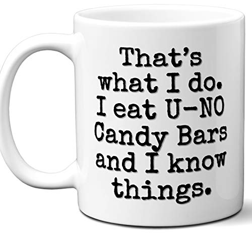 - U-NO Candy Bars Gift Lover Coffee Mug.