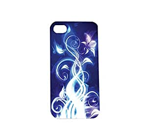 Electric Blue Plastic Snap on Case Cover Compatible with Apple iPhone 5s