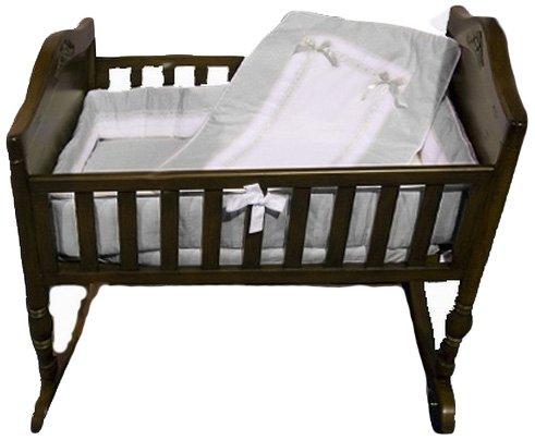 Baby Doll Bedding Royal Cradle Bedding Set, Grey by BabyDoll Bedding