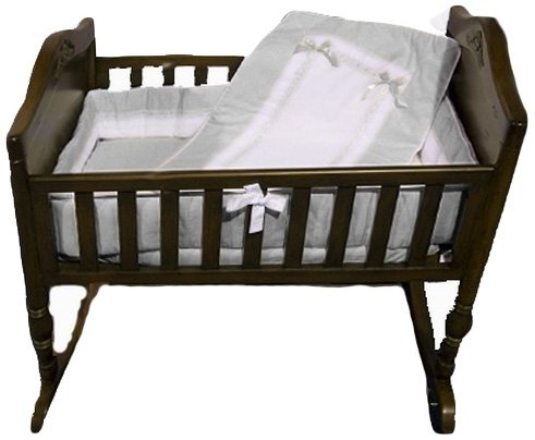 BabyDoll Royal Cradle Bedding Set, Grey baby doll bedding 535cr36