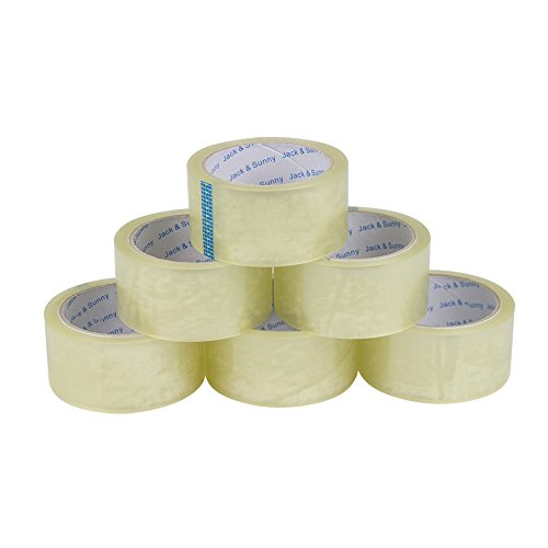 Jack&Sunny Heavy Duty Packing Tape Low Noise 1.88 Inch x 54.6 Yard(Pack of 6 Rolls) Industrial Packaging Tape Great for Packing Shipping Moving Depot&Storage Clear Photo #4