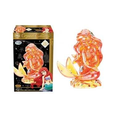 3D Crystal Puzzle Disney Ariel 42 Pcs(Orange)