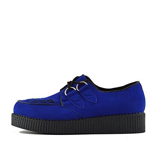 Mens Enredaderas De La Moda Negro Pisos Vestido Formal De Zapatos azul real