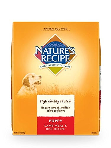 Nature's Recipe Puppy Dry Dog Food, Lamb Meal & Rice Recipe, 15-Pound Review