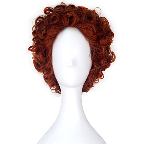 Miss U Hair Short Curly Hair Reddish Brown Boy's Unisex Movie Cosplay Wig C351 ()
