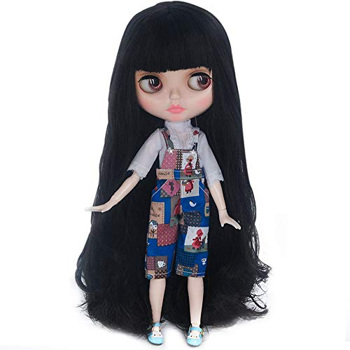 1/6 BJD Doll is Similar to Neo Blythe, 4-Color Changing Eyes Shiny Face and Ball Jointed Body Dolls, 12 Inch Customized Dolls with Five Hands, Nude Doll Sold Exclude Clothes (YM07)