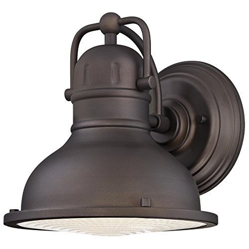 Westinghouse Lighting 6203400 Orson One-Light LED Outdoor Wall Fixture, Oil Rubbed Bronze Finish with Clear Prismatic Lens