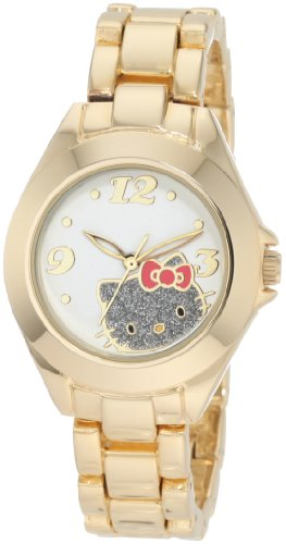 Hello Kitty by Kimora Lee Simmons Women's H3WL1033GLD   Gold Alloy Case And Glitter Face Watch