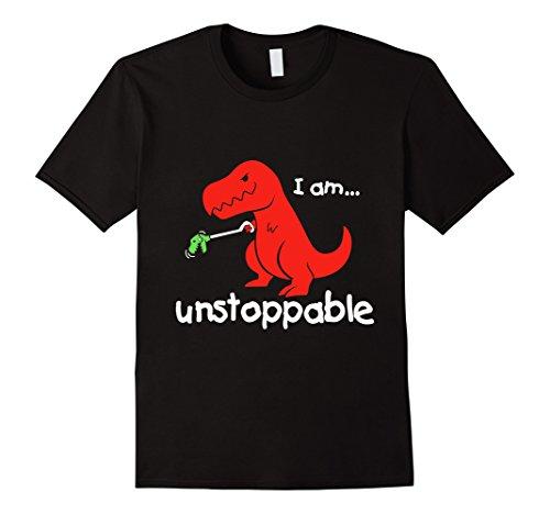 Men's Unstoppable T-Rex Funny T-Shirt Small Black