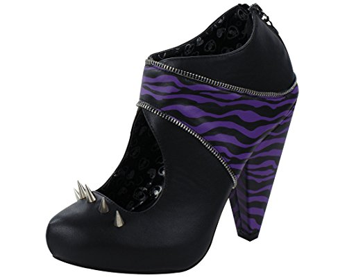 T.U.K. Women's A8232L Platform Pump,Black/Purple,7 M ()