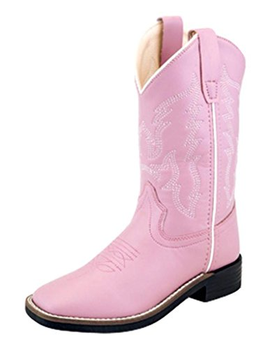 Old West Kids Boots Baby Girl's Square Toe
