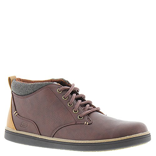 Skechers Mens Classic Fit Helmer Rosso, Marrone