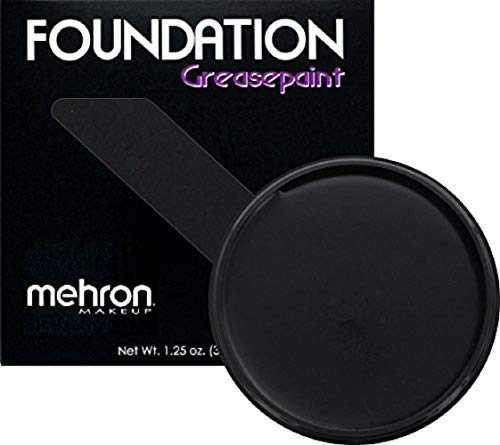 Mehron Makeup Foundation Greasepaint (1.25 oz) (BLACK)