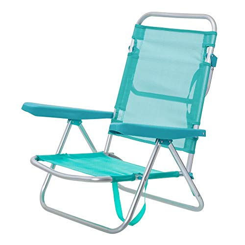 🥇 LOLAhome Silla 4 Posiciones de Aluminio con Brazos de Playa Garden