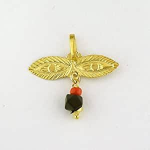 Baby Child Ojito Santa Lucia 14k Gold With