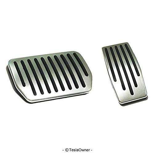 Aluminium Pedal - Anti-slip Gas Brake Pedal, Auto Aluminium Accelerator Brake Pedal Cover For Tesla Model 3 (Gas+Brake Pedals)