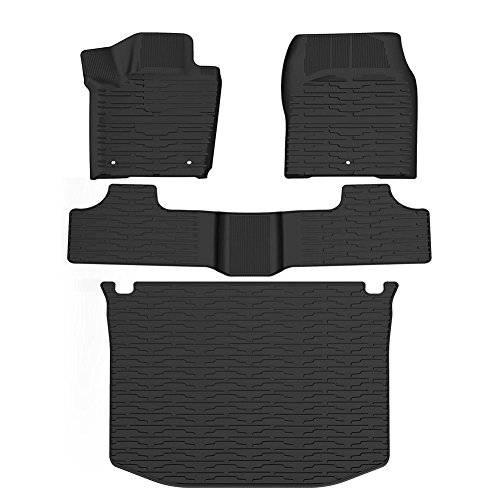 YITAMOTOR Slush Floor Mats & Cargo Tray Liner Set Compatible for 2011-2016 Jeep Grand Cherokee, All Weather Protection Heavy Duty Rubber Car Floor Carpet