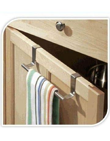 Jeffyo - Toallero para armario con gancho para colgar encima de la puerta, toalla de