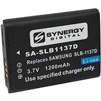 Samsung TL34HD Digital Camera Battery Lithium-Ion (1200 mAh) - Replacement for Samsung SLB-1137D Battery
