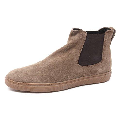 Tod's Elastico Uomo Chiaro Polacchino Shoe Marrone Beatles Boot Man B4070 qwOEII