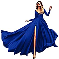 AnnaApparel Women Long Evening Gowns Wedding Prom Bridesmaid Dress Elegant Cocktail Party Dresses